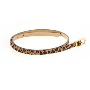 J. Crew Leather Leopard Animal Pattern Hair Belt M